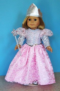 American Girl Doll Clothes - Pink Princess or Glinda the Good Witch Costume with Accessories and Shoes