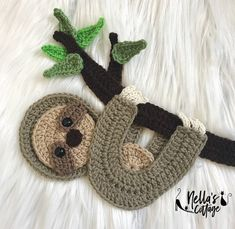 Searching for the perfect crochet applique pattern items? Shop at Etsy to find unique and handmade crochet applique pattern related items directly from our sellers. Chat Crochet, Crochet Sloth, Crochet Amigurumi, Crochet Cow, Mobiles En Crochet, Crochet Mobile, Baby Pattern, Motifs D'appliques, Crochet Simple