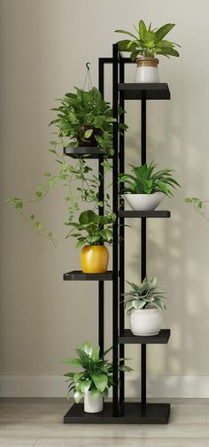 House plants decor – Online Shop Standing flower shelf Living room & balcony Plant shelf flower pot stands with wood plant Aliexpress Mobile – House Plants Room With Plants, House Plants Decor, Living Room Plants Decor, Living Rooms, Balcony Plants, Indoor Plants, Indoor Plant Stands, Balcony Flowers, Indoor Herbs