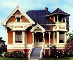 its like my own little doll house! its like my own little doll house! Victorian House Plans, Victorian Style Homes, Abandoned Houses, Old Houses, Victorian Architecture, Classic Architecture, Amazing Architecture, Second Empire, Little Doll