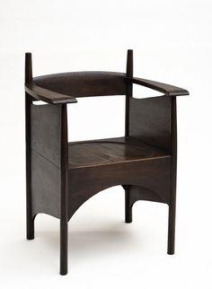 Charles Rennie Mackintosh, chair for the Argyle Tea Room, Glasgow, 1897