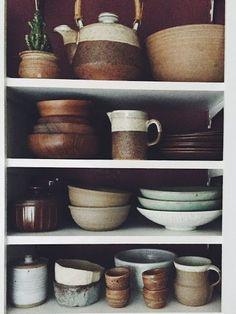Moon to Moon: Earth Tone Ceramics / Kitchen <3