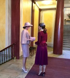 Queen Mathilde and Crown Princess Mary on the second day of the state visit march 29, 2017