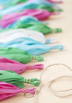 Tutorial DIY: tassel garland (o guirnalda de mochitos){by Azucarillos de Colores}