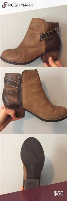 Seychelles Leather Booties Great Condition Seychelles Leather Booties. Great quality boots with strong heel! Timeless as always with this brand. Cute in all seasons! Wear with a little sundress in the summer and of course with leggings and a sweater in the fall! Seychelles Shoes Ankle Boots & Booties