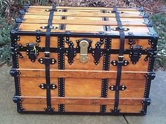 slat clamp end covers steamer trunk - Google Search