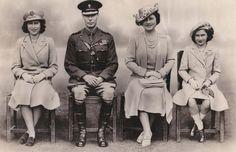 Princess Elizabeth (Queen Elizabeth II), George VI, Queen Elizabeth (The Queen Mother) and Princess Margaret
