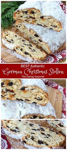 Flaky moist aromatic and divinely flavorful these homemade German Christmas Stollen are INCREDIBLE! Flaky moist aromatic and divinely flavorful these homemade German Christmas Stollen are INCREDIBLE! Christmas Bread, Christmas Baking, German Christmas Stollen Recipe, German Christmas Food, Traditional German Stollen Recipe, Christmas Cake Recipe Traditional, German Christmas Traditions, German Bread, German Stollen Bread Recipe