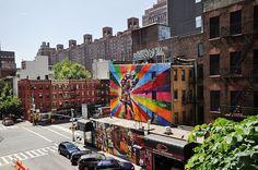 The High Line - Photo by Lele - Mural by Brazillian artist Kobra - eduardokobra.com