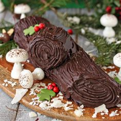 Give your traditional yule log cake a makeover with this recipe for a Peanut Butter Cup Yule Log!