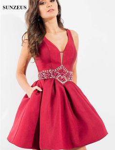 9e52c3f7f18 Rachel Allan 4300 is a short Mikado party dress with plunging V neckline