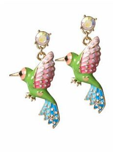 These Betsey Johnson earrings are THE cutest!  $35 @ Piperlime.