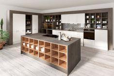 Dizajnové kuchyne Kitchen Island, House Design, Living Room, Interior Design, Home Decor, Places, Table, Island Kitchen, Nest Design