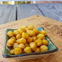 Cheesy Roasted Chickpeas (dairy-free!)