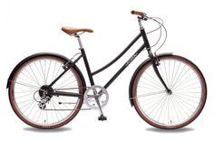 Foffa Plume matte Black city ladies hybrid bike