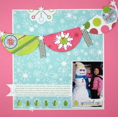 Holidazzle Scrapbook Page Layout Idea from Creative Memories