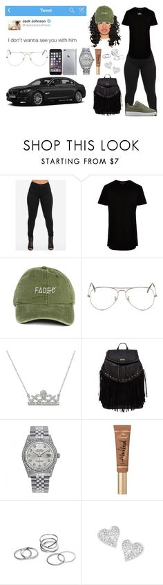 """""""Its Been This Way"""" by swaavvyya ❤ liked on Polyvore featuring River Island, Ray-Ban, Victoria Kay, Lipsy, Rolex, Too Faced Cosmetics and Vivienne Westwood"""
