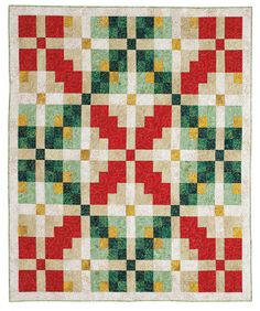 Holiday Argyle quilt kit by Susan Emerson for Fons and Porter.  Easy holiday quilt.