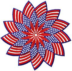 Patriotic Star Patch  Free Embroidery Design Brother Embroidery Machine, Machine Embroidery Applique, Silk Ribbon Embroidery, Free Machine Embroidery Designs, Machine Embroidery Projects, Embroidery Files, Embroidery Supplies, Machine Design, Military Holidays