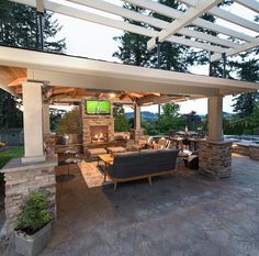 The pergola you choose will probably set the tone for your outdoor living space, so you will want to choose a pergola that matches your personal style as closely as possible. The style and design of your PerGola are based on personal Backyard Pavilion, Backyard Patio Designs, Backyard Pergola, Backyard Landscaping, Pergola Kits, Backyard Cabana, Outdoor Cabana, Cheap Pergola, Patio Ideas
