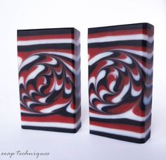 Black and Red soap - spiral swirl