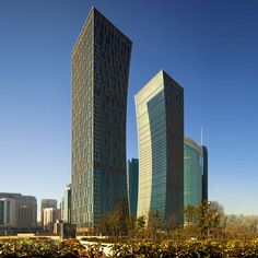 Riviera TwinStar Square, Shanghai houses The Agricultural Bank of China and the China Construction Bank.