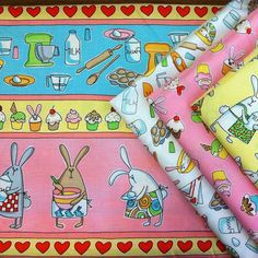 Baking Bunnies - coming this October!    I am having a hard time waiting for this fabric!!! ADORABLE!!!!!!