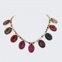 Faux Real Giant Gem Necklace , New Jewellery from Tom Binns at Kabiri.co.uk