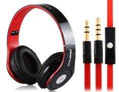 Special New Edition On-ear Stereo Headphones with Microphone Headset Black Red #UnbrandedGeneric