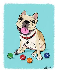 French Bulldog Illustration.