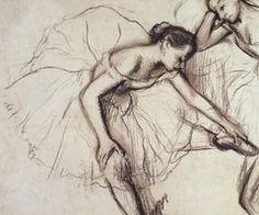 Degas ballerina drawing