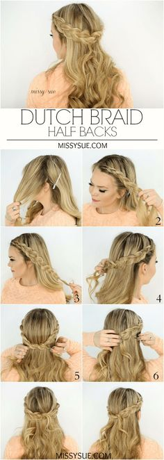 Dutch Braid Half Bac