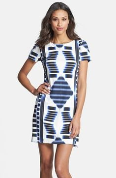Trina Turk 'Katie' Print Ponte Knit Shift Dress available at #Nordstrom