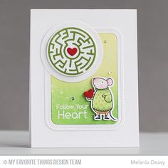A-Maze-ing Card Kit, Harvest Mouse Stamp Set and Die-namics, Single Stitch Line Rounded Rectangle Frames Die-namics - Melania Deasy  #mftstamps
