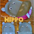 Paper Plate Hippopotamus (from I Heart Crafty Things)