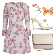 Nude Flowers by carolineas on Polyvore featuring polyvore, fashion, style, The 2nd Skin Co., René Caovilla, Givenchy and clothing