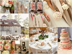 Coral and Champagne Wedding Inspiration   Personalized Wedding ...