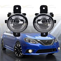 1 Pair LH RH Clear Fog Light Lamp W/ H11 Halogen Bulb For Nissan Altima Maxima #Vimpression