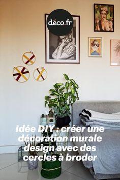 Vous souhaitez habiller un mur avec une décoration originale et surprenante ? Voici une idée DIY très sympathique qui vous encourage à détourner des cercles à broder en déco murale très design. L'occasion d'ajouter un brin de modernité au sein de votre ambiance intérieure ! Brin, Decoration Originale, Idee Diy, Ajouter, Occasion, Voici, Origami, Miniatures, Home Decor