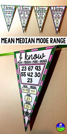 In this collaborative activity students find mean, median, mode and range given either or 10 single and double-digit numbers. Some answers require rounding (answer key is to the nearest hundredth). You can see the thumbnail image for th Teaching 6th Grade, Sixth Grade Math, Teaching Math, Math Resources, Math Activities, Math Games, Mean Median And Mode, Math Enrichment, Math Courses