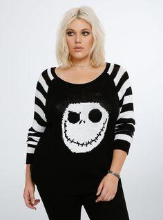 Nightmare Before Christmas Collection Jack Skellington Sweater   Torrid