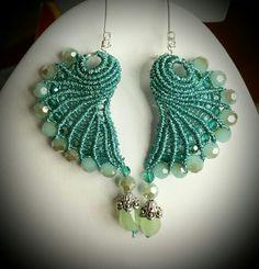 Macrame earrings  #macramè #macrame #simona #rotaris