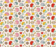 hedgehogs fabric by heidiryancreative on Spoonflower - custom fabric