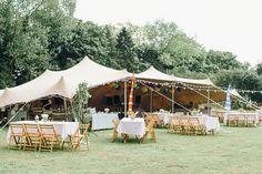 Outdoor Stretch Tent Reception | Bright Music Festival Wedding | Outdoor Stretch Tent Reception | Ronald Joyce Wedding Dress | Jessica Reeve Photography | http://www.rockmywedding.co.uk/jes-tommy/