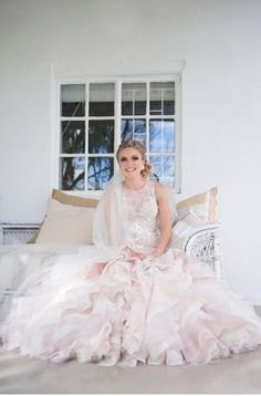 Modern princess wedding gown.   (custom design by Stephen van Eeden  &  Janita Toerien)