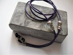Your place to buy and sell all things handmade Natural Earth, Chains For Men, Purple Leather, Ceramic Beads, Reading Glasses, Leather Cord, Jewelry Trends, Eyeglasses, Greek