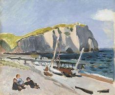 Henri Matisse, Falaises d'Aval, les pêcheurs - Étretat