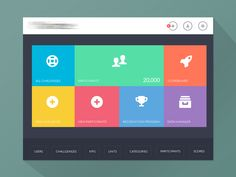 Dribbble - Main Menu Page by Bluroon (Flat & Filthy) UI Design interface