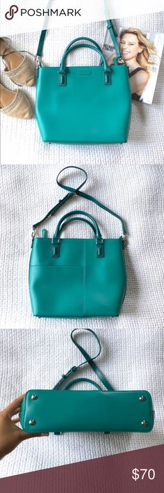 """Vera Bradley   Tote Teal/turquoise color. Hard shell. In excellent condition. Handles plus shoulder strap. Roughly 10"""" x 3"""" x 10"""". Super cute! 📬Fast shipping📬 🥂10% off 2+ items--press """"Add to Bundle"""" to save!🥂 Vera Bradley Bags Totes"""