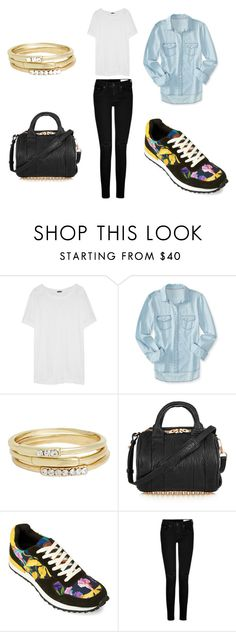 """""""Inkkas Flora African Jogger"""" by inkkasstyle ❤ liked on Polyvore featuring J.Crew, Aéropostale, Jules Smith, Alexander Wang, INKKAS, rag & bone, women's clothing, women's fashion, women and female"""